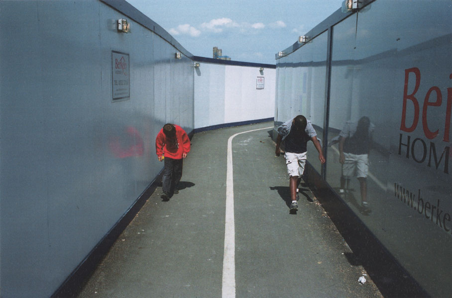 Two boys in a passageway, 2003